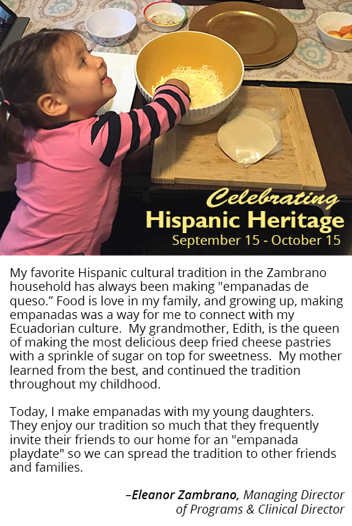 Eleanor Zambrano's girls make empanadas