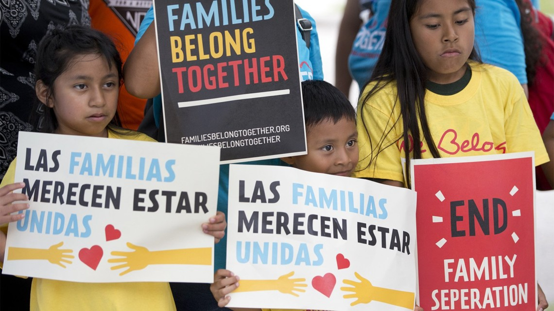 Children protesting the separation of immigrant families