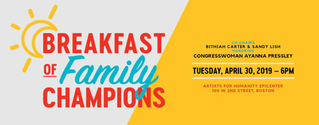 Breakfast of Family Champions, co-chaired by Bithiah Carter and Sandy Lish, Honoring Congresswoman Ayanna Pressley